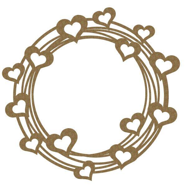 1 laser cut chipboard full of love frame. 6