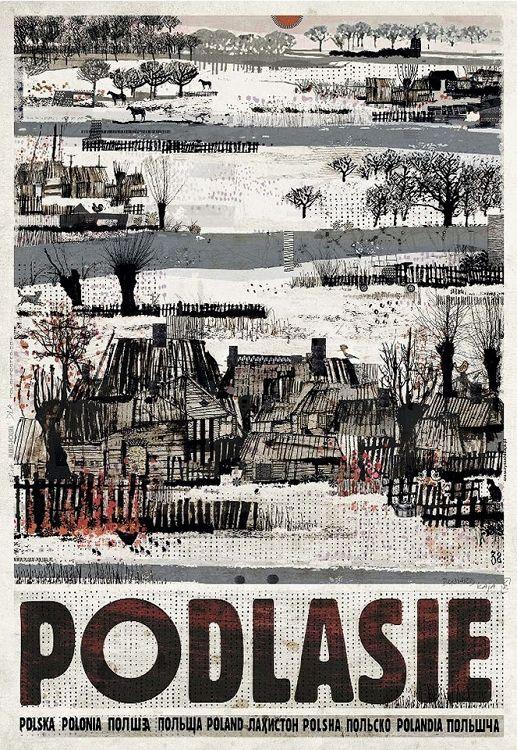 Podlasie, plakata z serii Polska, Ryszard Kaja