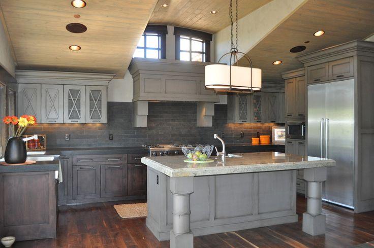 Best Kitchen Design Light Gray Breakfast Bar Ceiling Lighting 400 x 300