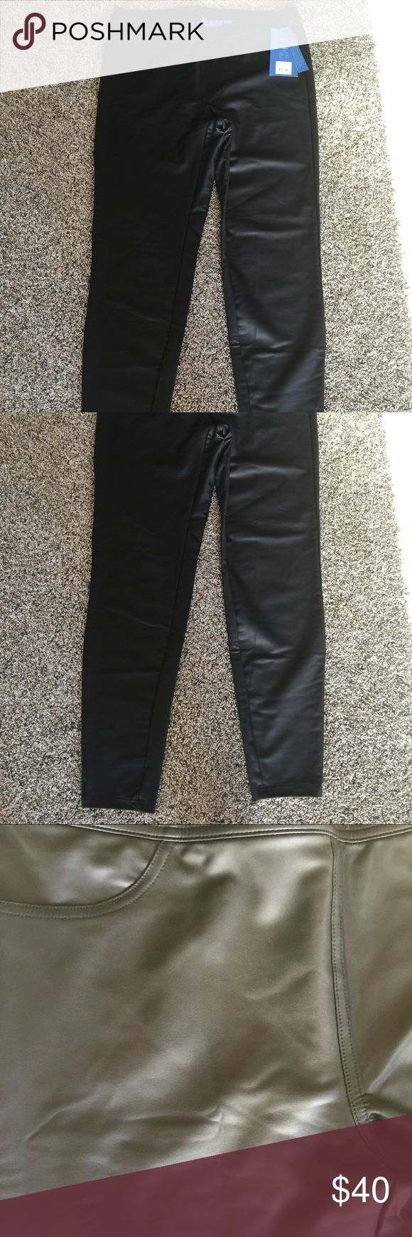 Simply Vera Vera Wang Large Faux Leather Leggings Simply Vera Vera Wang Large Faux Leather Leggings Simply Vera Vera Wang Pants Leggings