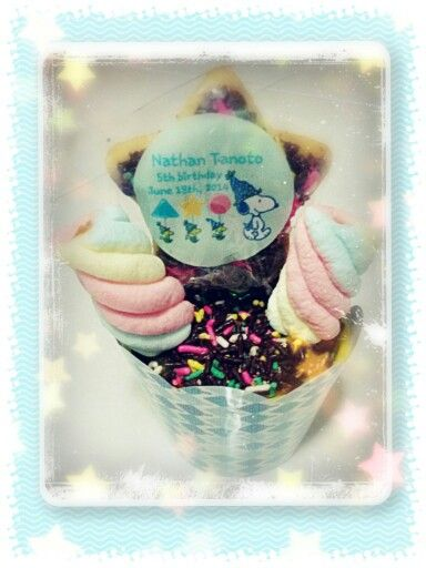 Cupcake with special design (cupcake,cookies&marshmallow)