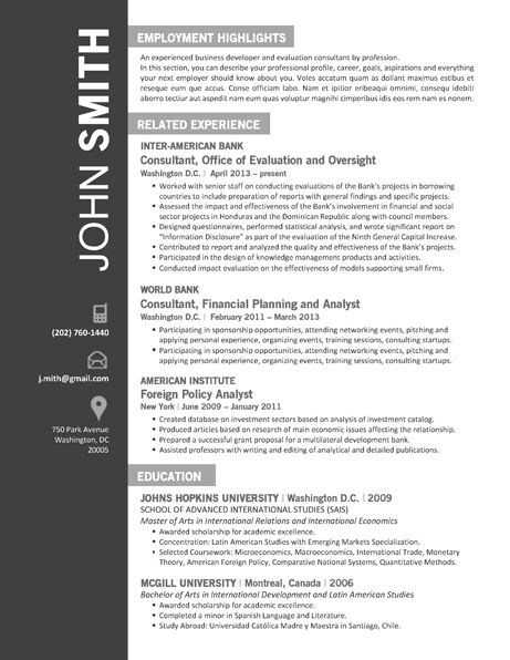 7 best office resume template images on pinterest