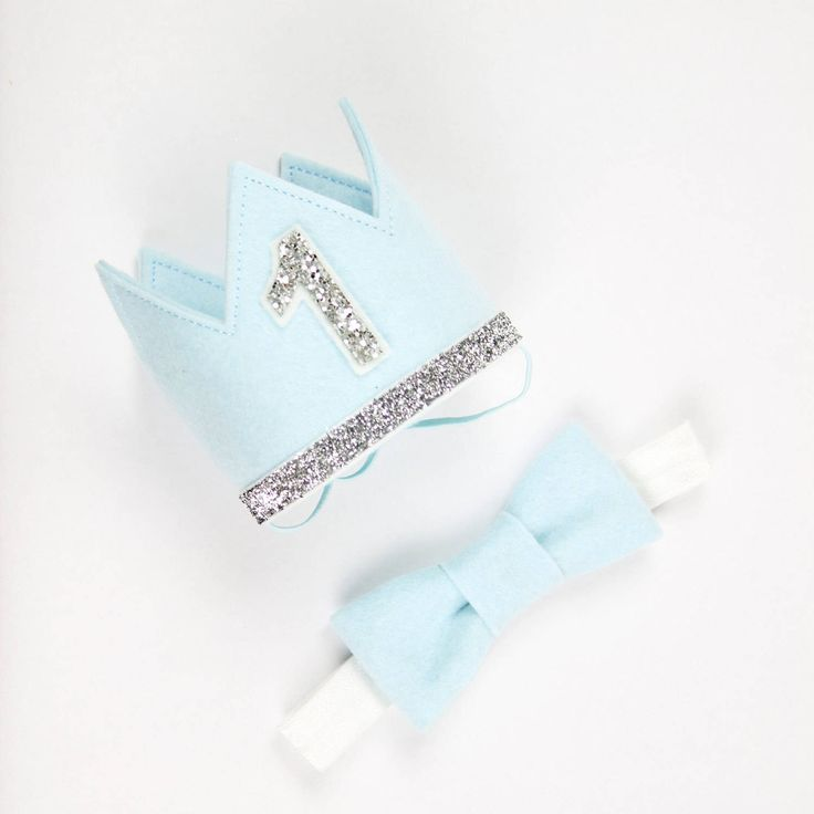 First Birthday Crown fo Felt | 1st Birthday Boy Outfit for Cake Smash | Baby Boy First Birthday Outfit | 1st Birthday Hat | Baby Blue Silver by PreshToast on Etsy https://www.etsy.com/au/listing/457749204/first-birthday-crown-fo-felt-1st