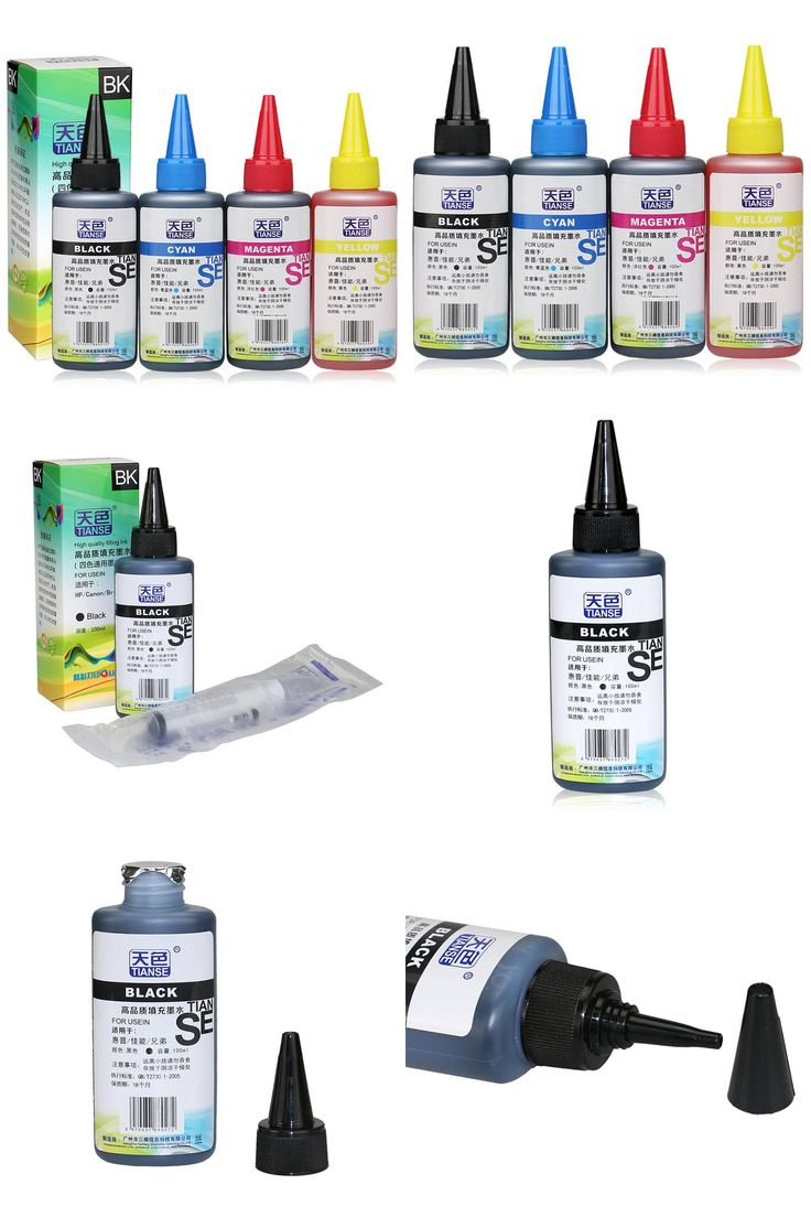 [Visit to Buy] Universal 4*100ml Refillable Dye Ink For Canno for HP Premium Brother inkjet printer all models Refill Dye Kits for CISS system #Advertisement