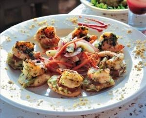 Grilled Shrimp Tostada...
