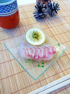 柚子胡椒&レモンで食す☆「黒鯛のお造り」 レシピ・作り方 by まめもにお 楽天レシピ
