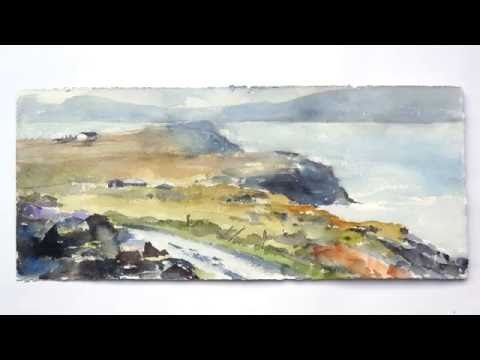 Watercolor demo: Irish landscape plein-air - YouTube