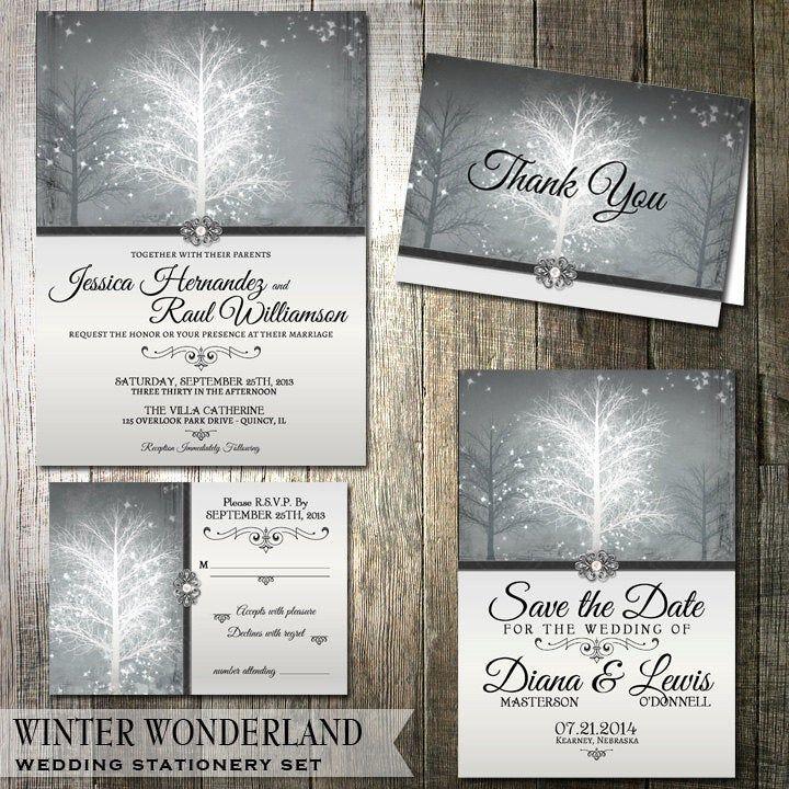 Winter Wonderland Wedding Invitation Rsvp By Oddlotpaperie Wint In 2020 Winter Wonderland Wedding Invitations Wonderland Wedding Invitations Winter Wedding Invitations