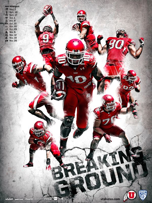 2011 University of Utah Football by T.C. de Hoyos (Lehi), via Behance.