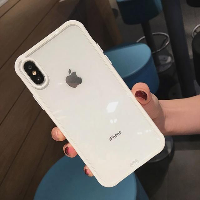 Uslion Transparent Silicone Case For Iphone X Xr Xs Max Shockproof Soft Phone Case For Iphone 7 Iphone Bumper Case Silicone Phone Case Iphone Transparent Case