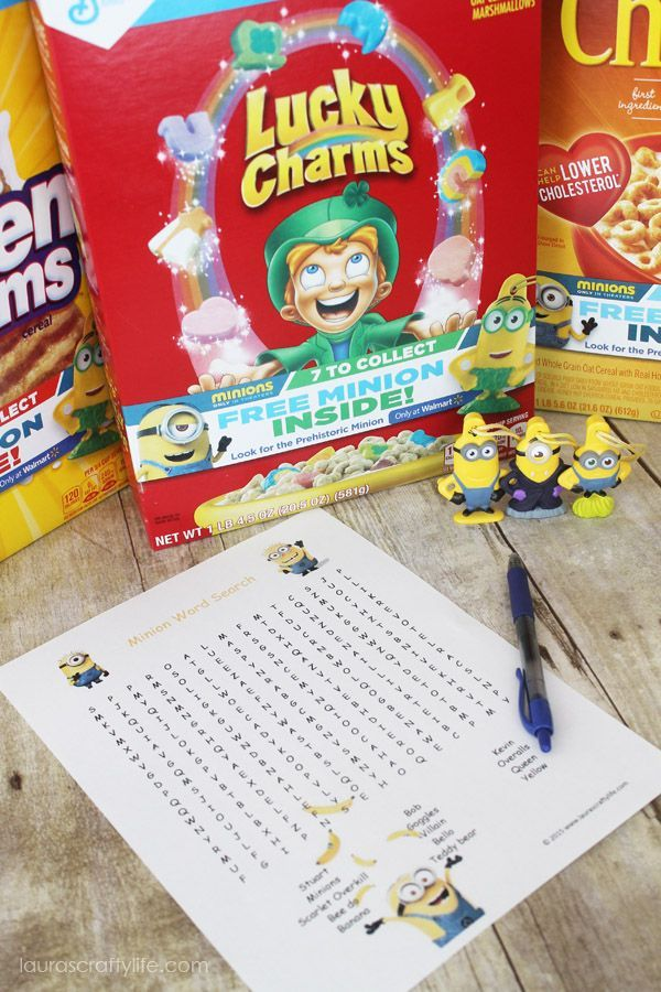Minion Word Search #The7thMinion - Laura's Crafty Life #ad