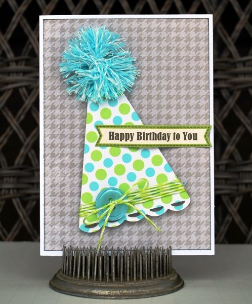 Jillibean Soup B-Day Card from Aphra Boyer! Love the pom-pom topper!