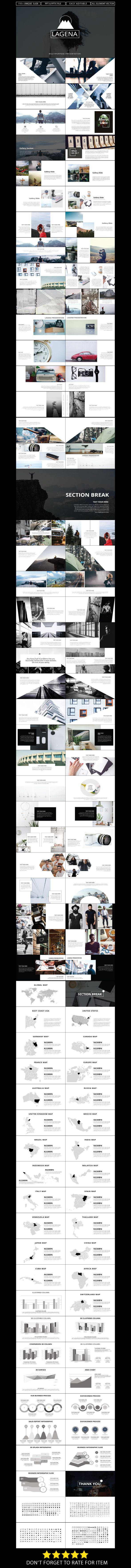 Lagena - PowerPoint Presentation Template - 110+ Unique Custom Slides