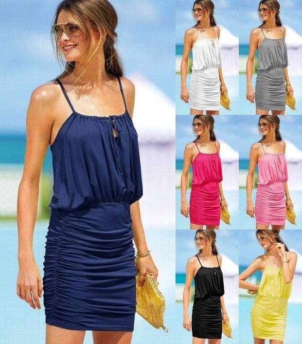 VICTORIA'S SECRET SEXY BLOUSON TEE DRESSES SPAGHETTI STRAP BEACH SUNDRESS -XS,S,M -VICTORIAS SECRET --------US$23.99 -------------Please Click The Photo Above If You Want To Purchase It!!