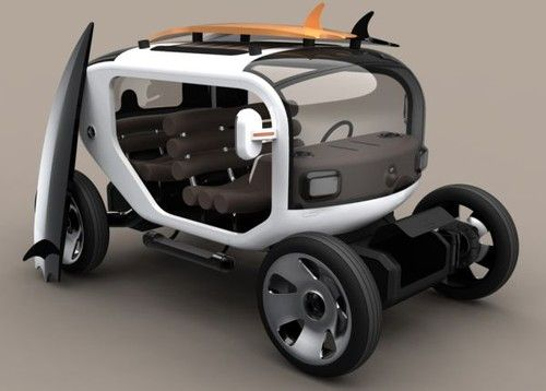 ESCALE, Futuristic Electric Vehicle, Samuel Aguiar