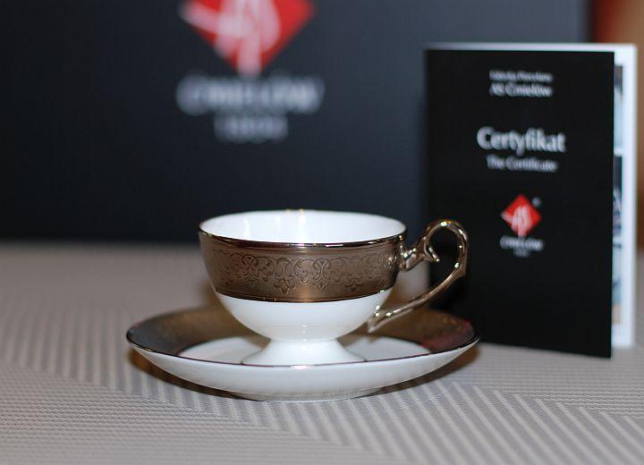 Ewa espresso Royal platinum decoration Filiżanka Ewa espresso Królewska z platynową dekoracją