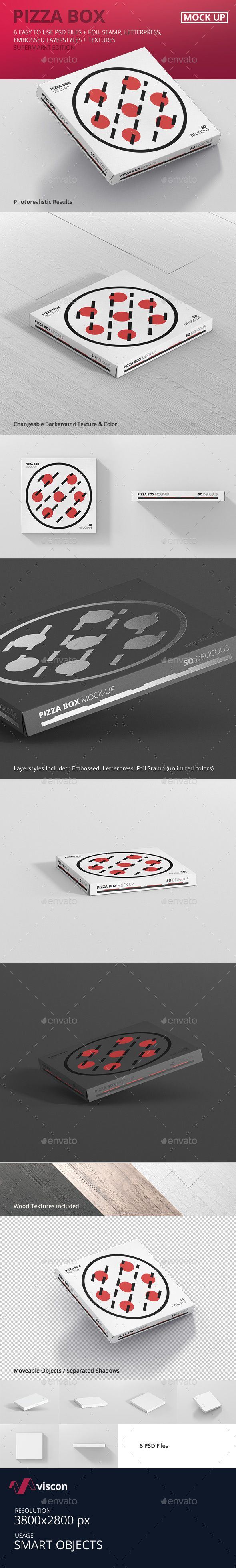 Pizza Box Mock-Up - Supermarket Edition. Download here: http://graphicriver.net/item/pizza-box-mockup-supermarket-edition/16323354?ref=ksioks