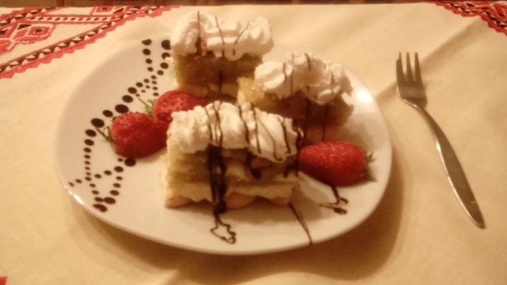 Fotorecept: Nepečený jablkový koláč