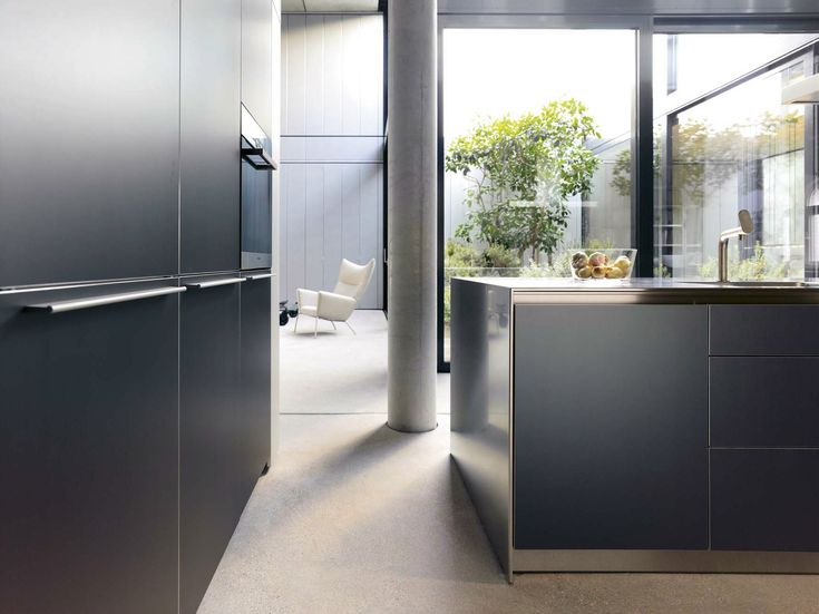 Lacquered kitchen with island Oak kitchen b3 Collection by Bulthaup