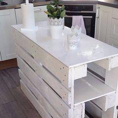 DIY Pallets kitchen island