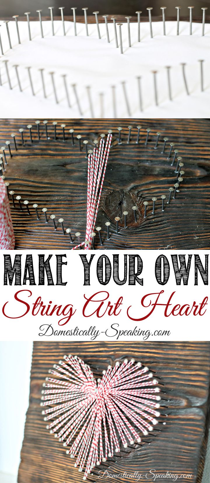 Make Your Own String Art Heart | Valentine's Day DIY | Decorations | Gift Ideas