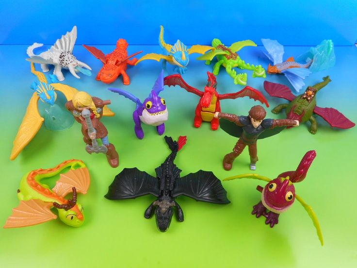 How To Train Your Dragon Fast Food Toys