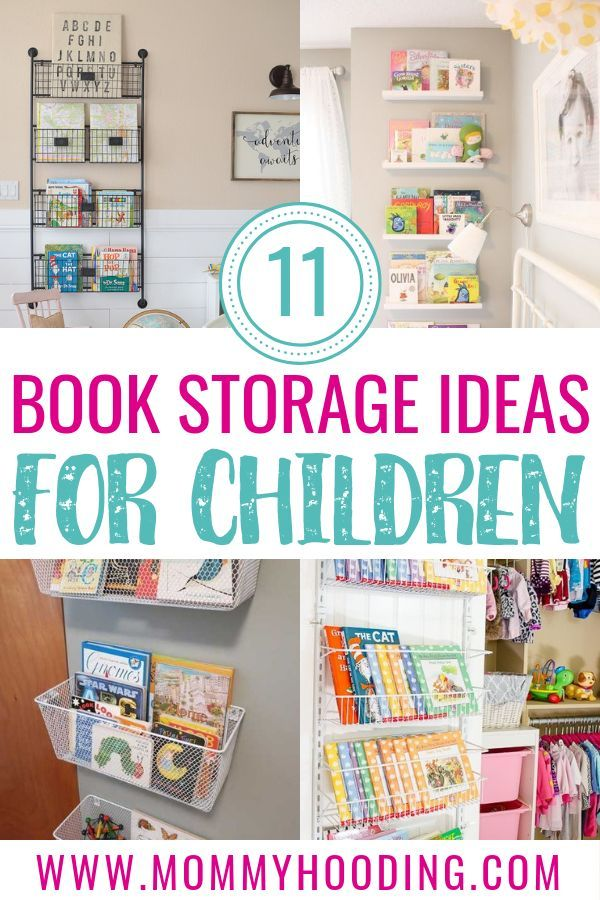 11 Awesome Kids Book Storage Ideas These Book Display Ideas Cover Creative Ways To Store Your Kids Boo Book Storage Small Space Kids Book Storage Kids Storage