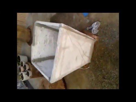 Incrivel como Aproveitar Materiais de fim de Obra Vaso tipo Jardineira - YouTube