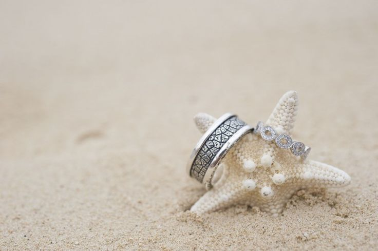 Wedding Rings with Starfish | Amberlee Christey Photography