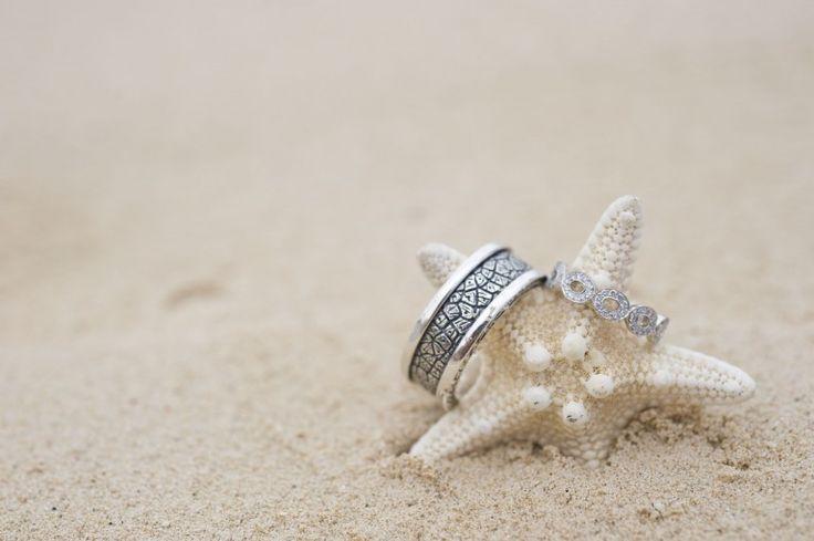 Wedding Rings with Starfish | Amberlee Christey Photography