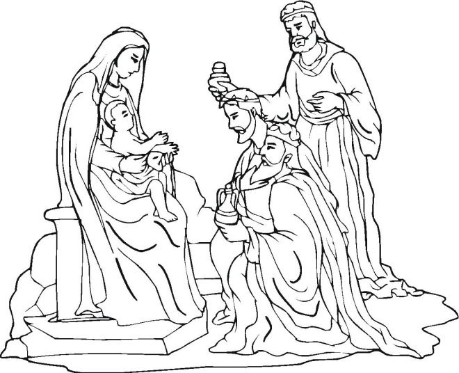 Free christmas coloring pages nativity crafts for me for Away in a manger coloring pages