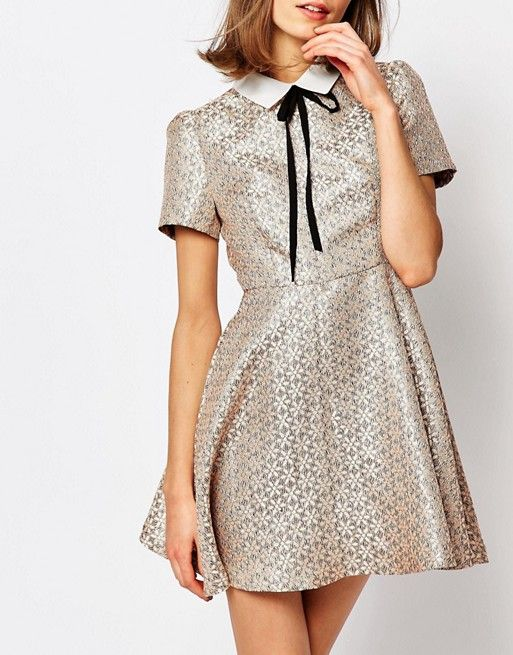 sister jane | Sister Jane Camine Swing Dress With Tie Up In Tile Print