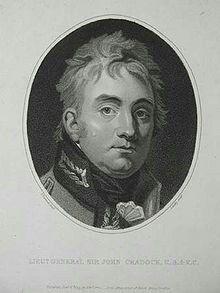 Sir John Cradock stig Cradock, 1812.