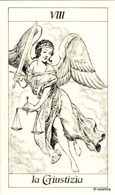 VIII. Justice - Tarot of the 3 Musketeers ( I Tarocchi del re Sole) by  Paolo Piffarerio