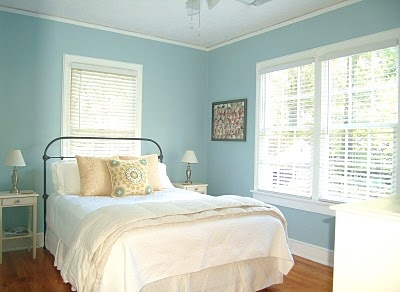Our Guest Bedroom Ben Moore Yarmouth Blue Walls
