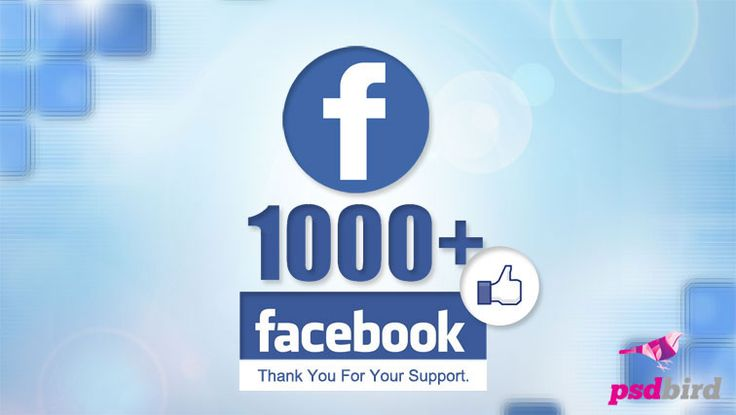 Free Facebook 1000+ Likes Banner PSD
