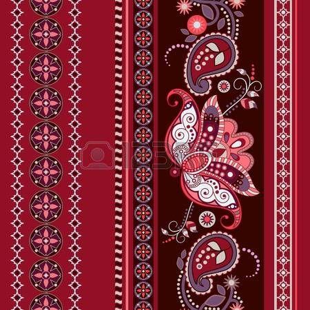 Полосатый узор этническая картина. Пейсли орнамент обои photo