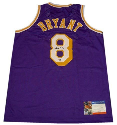 Kobe Bryant Autographed Signed Rookie Year #8 Laker Road Purple Jersey PSA/DNA Certified by PSA. $379.99. Signed early in his career, this vintage #8 high-quality replica Kobe jersey is a gorgeous piece
