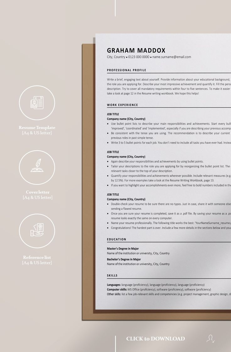 These sites give you a enormous range of resume themes ranging from site. Google Docs Resume Template Instant Download Cv Classic Ats Etsy Resume Template Cv Design Resume Template Professional