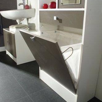 Armoire salle de bain L62.6xP28.4x181.1cm BANIO port offert