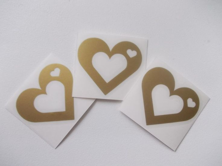 Heart Tanning Tattoos Stickers