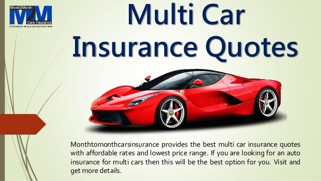 Multi Car Insurance Quotes With Lowest Premium Rates Online