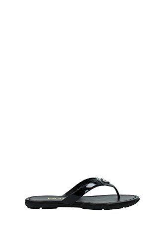 1Y449ENERO Prada Flip Flops Damen Lackleder Schwarz - http://on-line-kaufen.de/prada/1y449enero-prada-flip-flops-damen-lackleder
