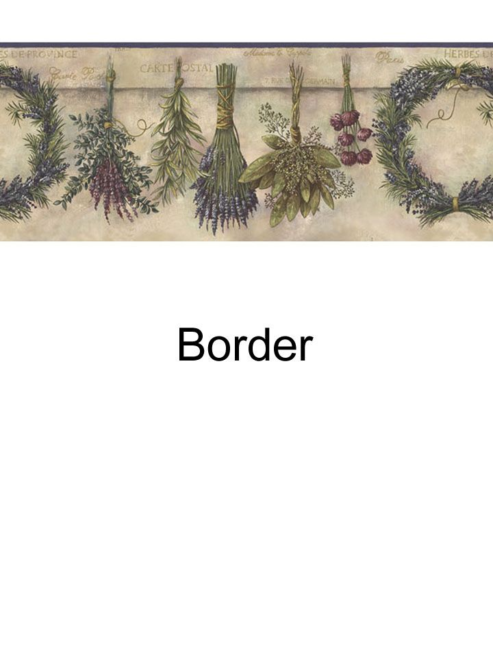 Border for the kitchen