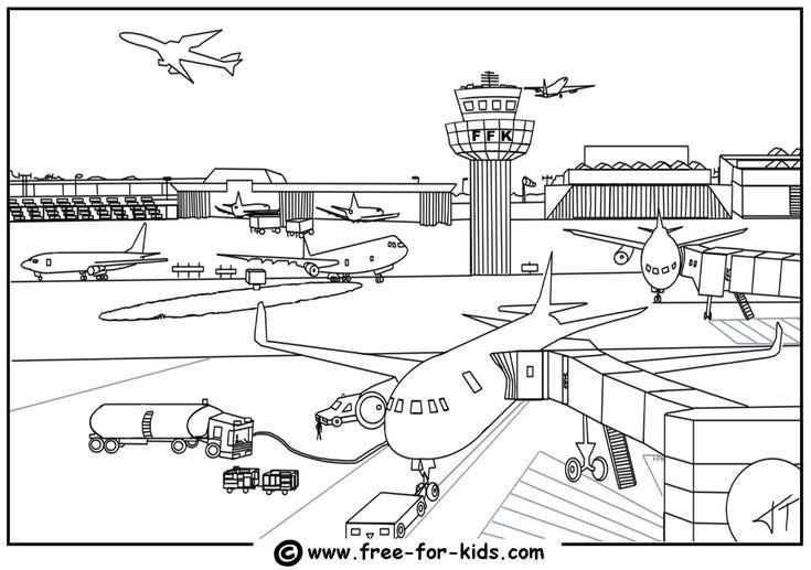 Malvorlagen Flughafen   Pendidikan, Warna