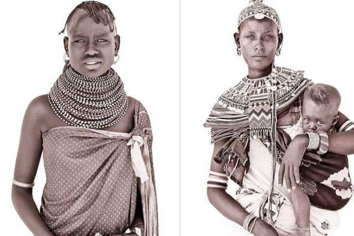 Путешествуя по Африке и Индийскому субконтиненту, а так же документируя жизненный уклад племенных жителей, фотограф-портретист Джон Кенни (John Kenny) создал впечатляющую серию работ под названием «Линии, ведущие к совершенству».