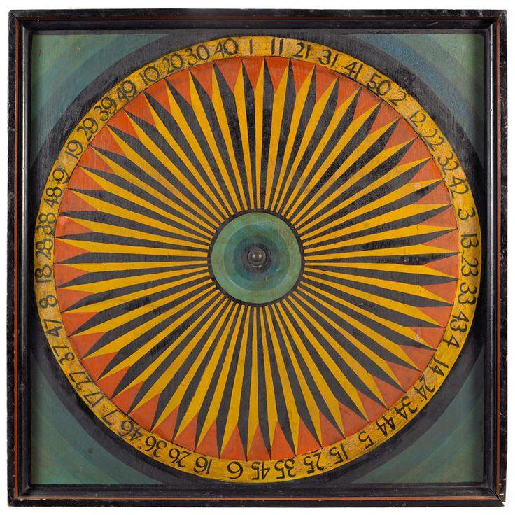 Gaming Wheel    Late 19th century  New England, ca. 1900  Originally found in the Berkshires, Massachusetts
