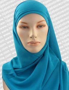Square Hijab - Plain Maxi - Cyan