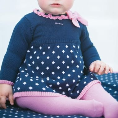 Little Princess - Tutto Piccolo - Kleedje donkerblauw/roze