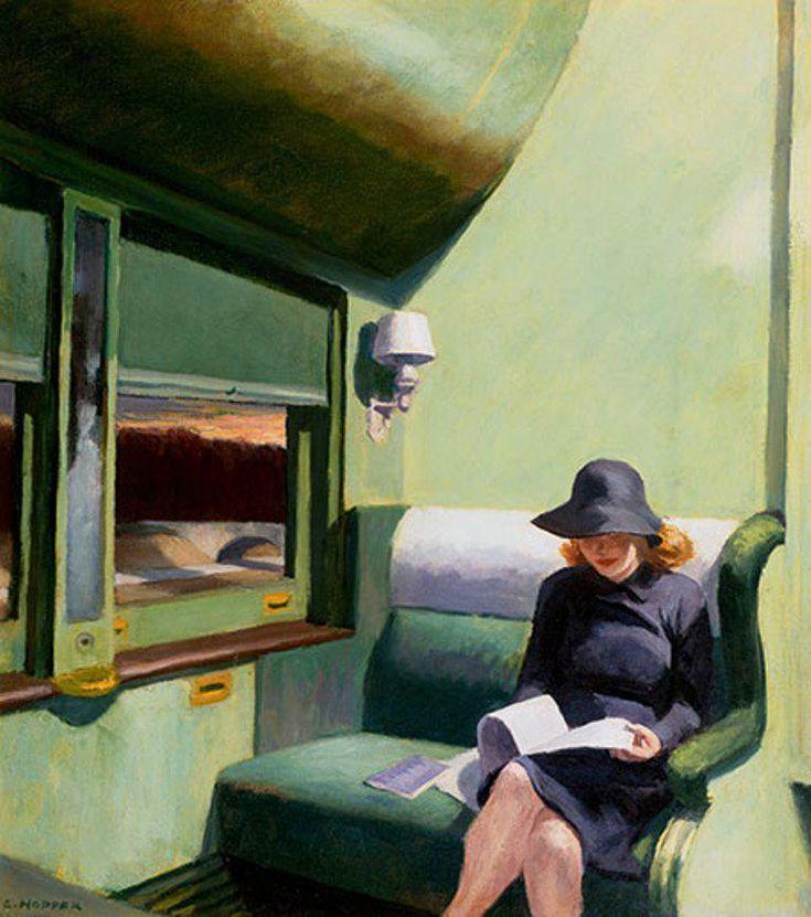 [명화산책] 에드워드 호퍼, 293열차의 C석 RT @adalbertoasf: Edward Hopper. Compartiment C, voiture 293, 1938